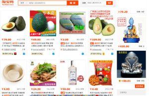 Productos de Taobao