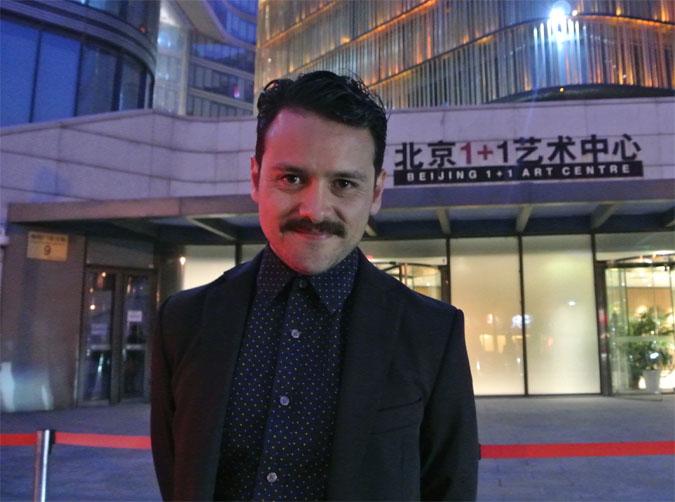 Actor Francisco Barreiro en el Festival de Cine de Beijing Foto.-Raúl López Parra